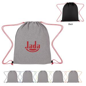 Jersey Knit Drawstring Sports Bag