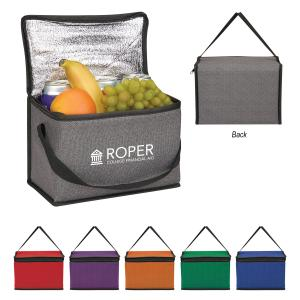 Non-Woven Heathered Cooler Lunch Bag