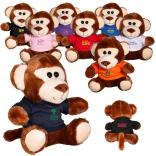 "7"" Plush Stuffed Monkey with T-Shirt"