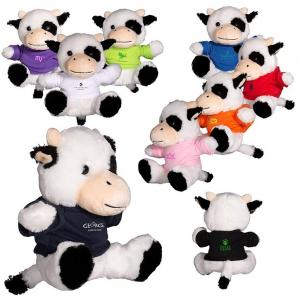 """7"""" Plush Stuffed Cow with T-Shirt"""