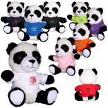 "7"" Plush Stuffed Panda with T-Shirt"