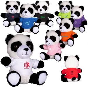"""7"""" Plush Stuffed Panda with T-Shirt"""