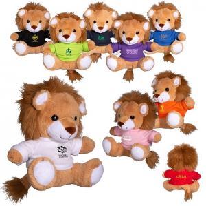 """7"""" Plush Stuffed Lion with T-Shirt"""
