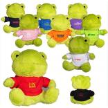 "7"" Plush Stuffed Frog with T-Shirt"