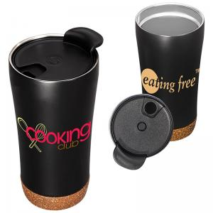 16 oz. Stainless Steel Double Wall Vacuum Tumbler with Cork Base
