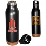 20 oz. Stainless Steel Double Wall Vacuum Bottle with Cork Base