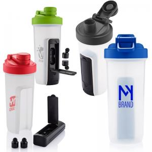 20 oz. Shaker Bottle with Bluetooth Earbuds
