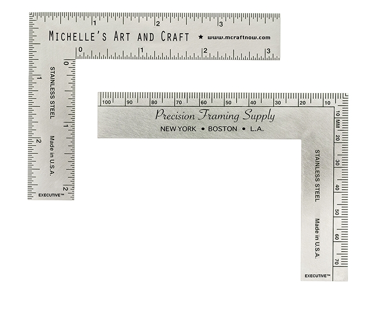 "Stainless Steel ""L"" Ruler"
