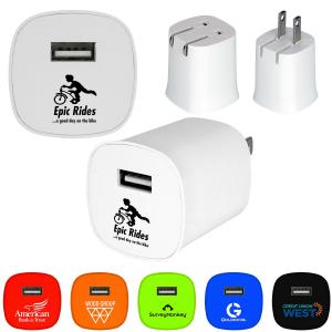 Colorful UL Folding Wall Charger