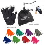 Acrylon Touch Screen Gloves in Pouch