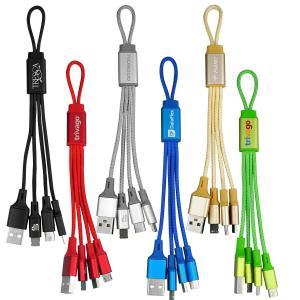 Metallic Loop 3-in-1 Charging Cable w/ Type C USB