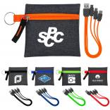Type C USB Cable & Zippered Pouch Set