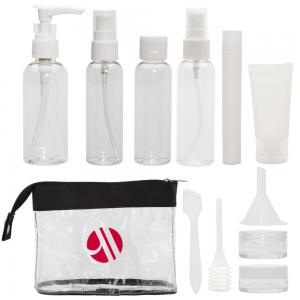Clear 12 Piece Travel Kit