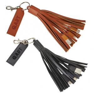 3-in-1 Tassel Fabric Cable