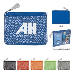 Geometric Patterned Cosmetic Bag