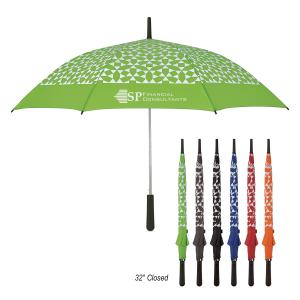 "46"" Arc Geometric Patterned Umbrella"