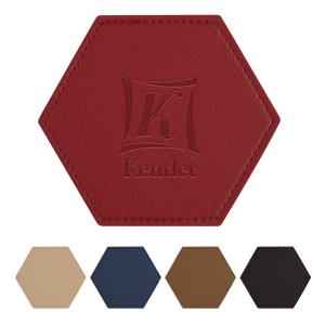 Hexagon Leatherette Coaster