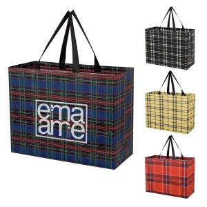 Tartan Laminated Non-Woven Shopper Bag