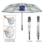 "46"" Arc Clear See-Through Inversion Umbrella"