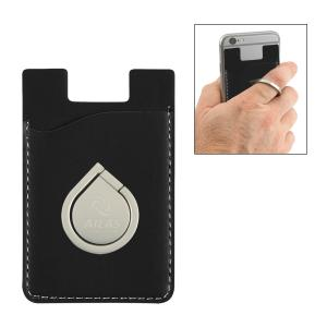 Executive Phone Wallet w/ Aluminum Phone Ring & Stand