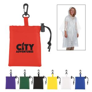 Sleeved Poncho in Drawstring Pouch