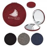 Heathered Compact Folding Mirror