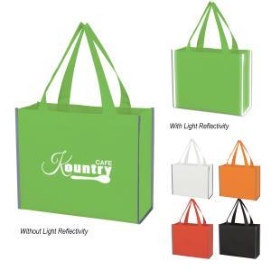 Laminated Reflective Non-Woven Shopper Tote Bag