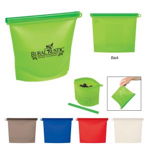Reusable Silicone Food Bag w/ Plastic Slider