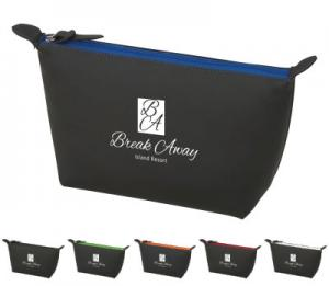 Color Accent Black Toiletry Bag