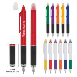 Chisel Tip Highlighter Ballpoint Pen