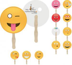 Full Color Emoji Hand Fan