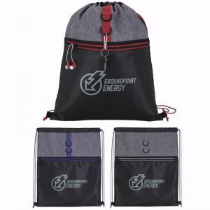 Color Accent Stand-Alone Drawstring Backpack