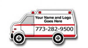 Ambulance Shape Phone Sticker