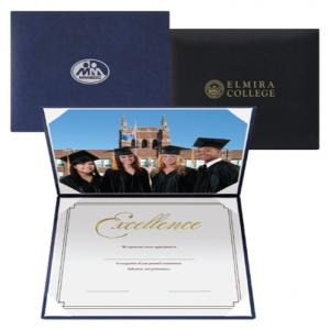 Dual Leatherette Padded Certificate Holder