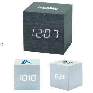 Metallic Cube Clock