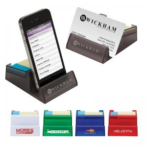 Electronics/Business Card Stand & Sticky Note/Flag Holder Combo