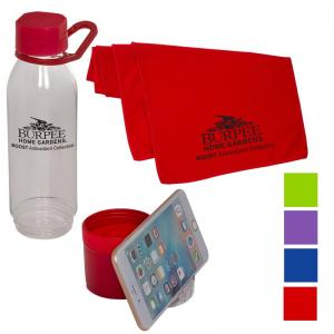 Multi-Function 25 oz. Water Bottle with Cooling Towel