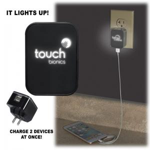 Light-Up Logo Duo USB Wall Charger