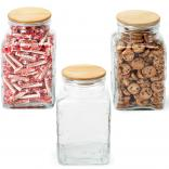 Office Reception Jar with Wooden Lid