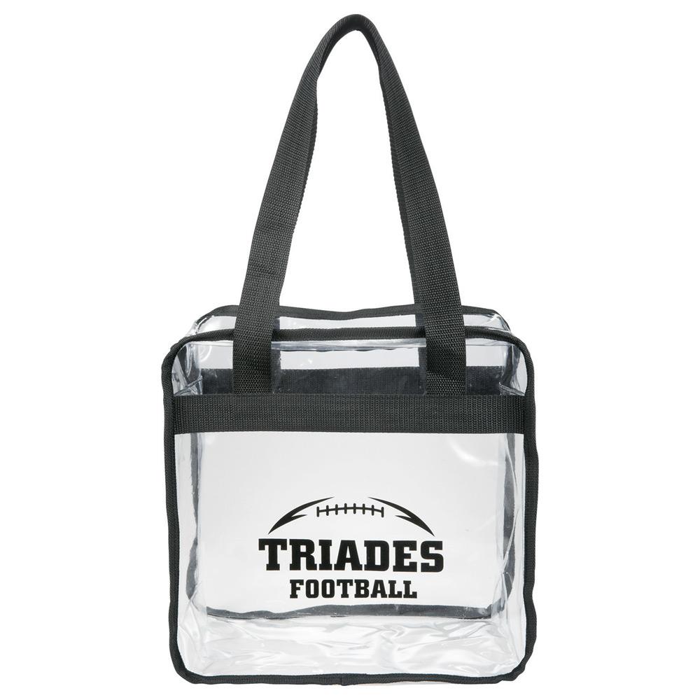 Zippered Clear Tote Bag