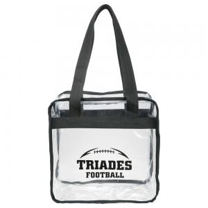 Zippered Clear Tote Bag