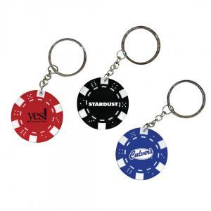 "1.5"" Poker Chip Shaped Keychain"