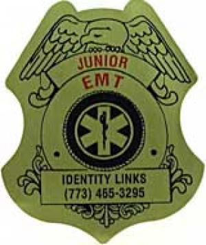 Jr.EMT Badge Sticker