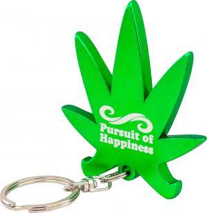 Marijuana Leaf Bottle Opener Key Chain