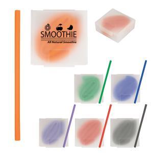 Silicone Straw w/ Case