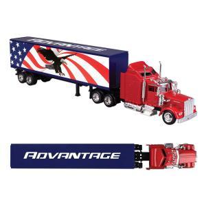 American Flag Kenworth W900 Truck