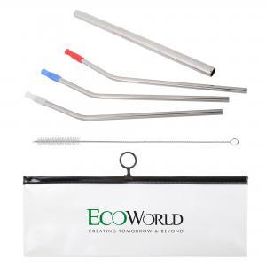 6 Piece Stainless Steel Straw Set