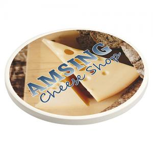 Absorbent Coaster with Cork Base