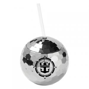 Groovy Disco Ball Tumbler With Straw