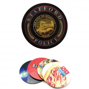 Circle Shaped Full Color Rubber Coasters